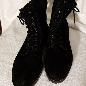 NWT Lucky Brand Suede Lace Up Booties